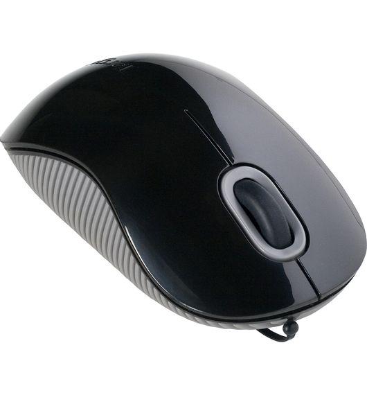 Mouse Óptico Targus com Cabo Retrátil - AMU76